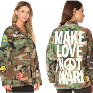 Madeworn Make Love Not War Military Jacket Small